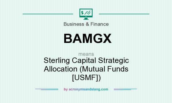 What does BAMGX mean? It stands for Sterling Capital Strategic Allocation (Mutual Funds [USMF])