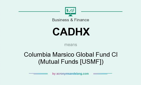 What does CADHX mean? It stands for Columbia Marsico Global Fund Cl (Mutual Funds [USMF])