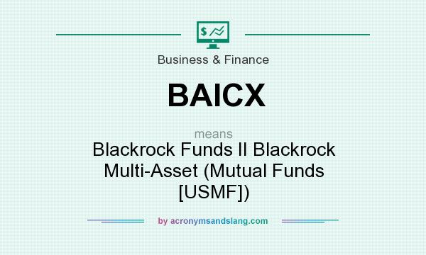 What does BAICX mean? It stands for Blackrock Funds II Blackrock Multi-Asset (Mutual Funds [USMF])