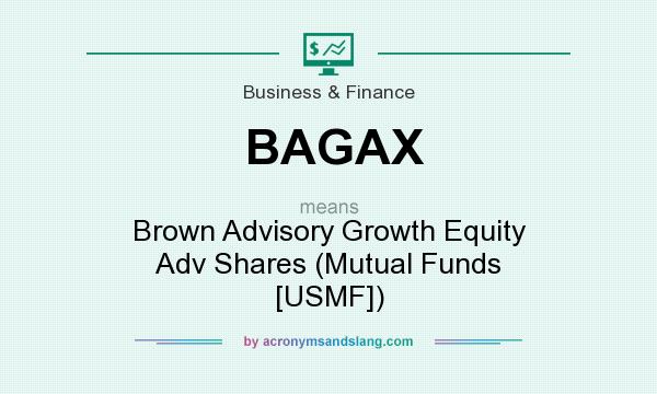 What does BAGAX mean? It stands for Brown Advisory Growth Equity Adv Shares (Mutual Funds [USMF])