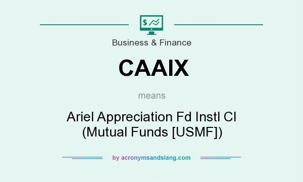What does CAAIX mean? It stands for Ariel Appreciation Fd Instl Cl (Mutual Funds [USMF])