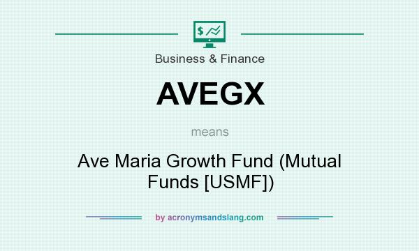 What does AVEGX mean? It stands for Ave Maria Growth Fund (Mutual Funds [USMF])