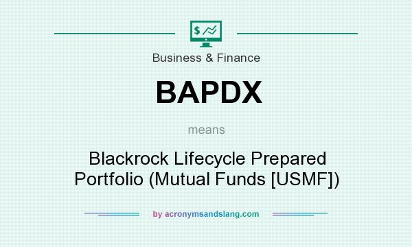 What does BAPDX mean? It stands for Blackrock Lifecycle Prepared Portfolio (Mutual Funds [USMF])