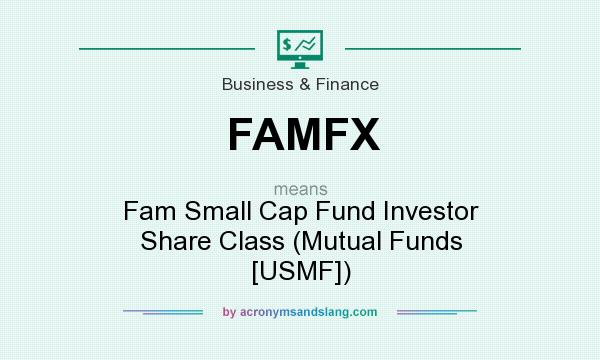 What does FAMFX mean? It stands for Fam Small Cap Fund Investor Share Class (Mutual Funds [USMF])