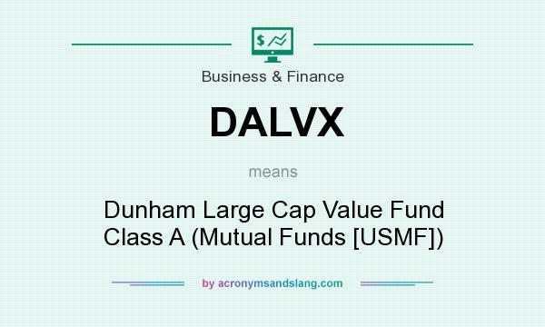 What does DALVX mean? It stands for Dunham Large Cap Value Fund Class A (Mutual Funds [USMF])