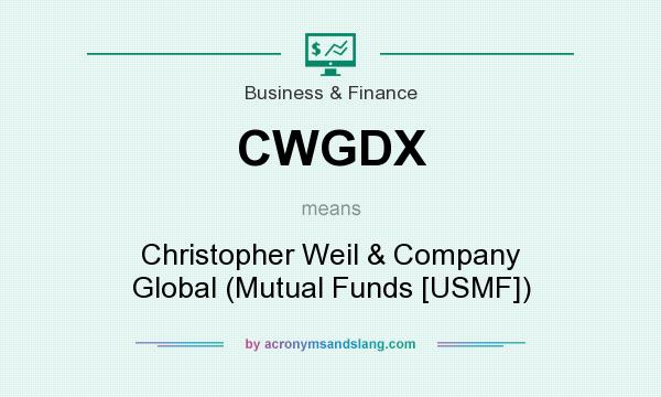 What does CWGDX mean? It stands for Christopher Weil & Company Global (Mutual Funds [USMF])