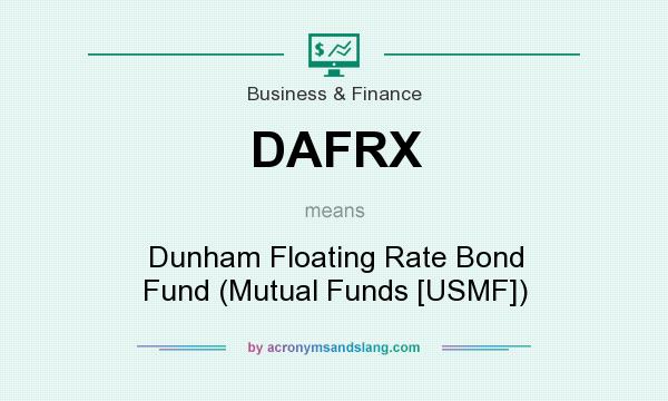 What does DAFRX mean? It stands for Dunham Floating Rate Bond Fund (Mutual Funds [USMF])