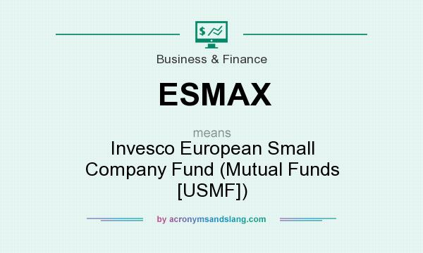 What does ESMAX mean? It stands for Invesco European Small Company Fund (Mutual Funds [USMF])