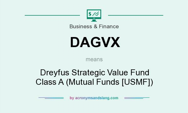 What does DAGVX mean? It stands for Dreyfus Strategic Value Fund Class A (Mutual Funds [USMF])