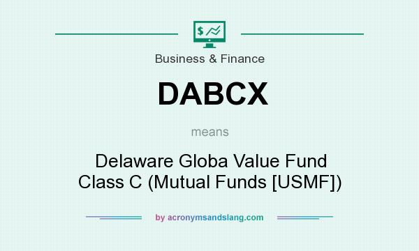 What does DABCX mean? It stands for Delaware Globa Value Fund Class C (Mutual Funds [USMF])