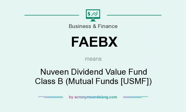 What does FAEBX mean? It stands for Nuveen Dividend Value Fund Class B (Mutual Funds [USMF])