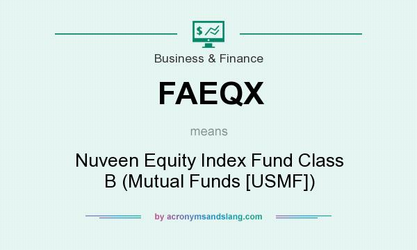 What does FAEQX mean? It stands for Nuveen Equity Index Fund Class B (Mutual Funds [USMF])