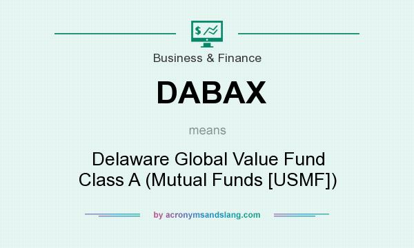 What does DABAX mean? It stands for Delaware Global Value Fund Class A (Mutual Funds [USMF])