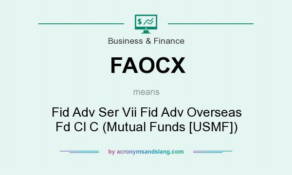 What does FAOCX mean? It stands for Fid Adv Ser Vii Fid Adv Overseas Fd Cl C (Mutual Funds [USMF])