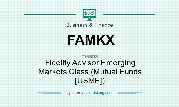 What does FAMKX mean? It stands for Fidelity Advisor Emerging Markets Class (Mutual Funds [USMF])
