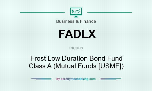 What does FADLX mean? It stands for Frost Low Duration Bond Fund Class A (Mutual Funds [USMF])