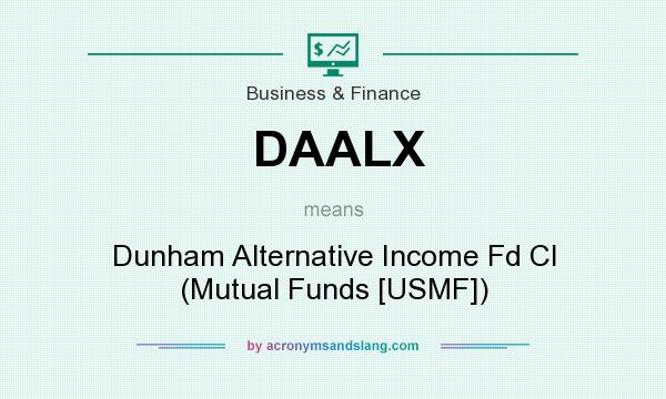 What does DAALX mean? It stands for Dunham Alternative Income Fd Cl (Mutual Funds [USMF])