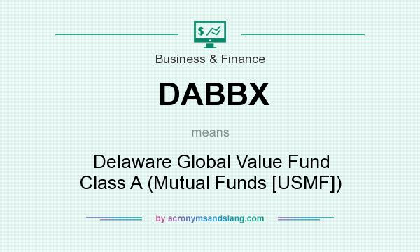 What does DABBX mean? It stands for Delaware Global Value Fund Class A (Mutual Funds [USMF])