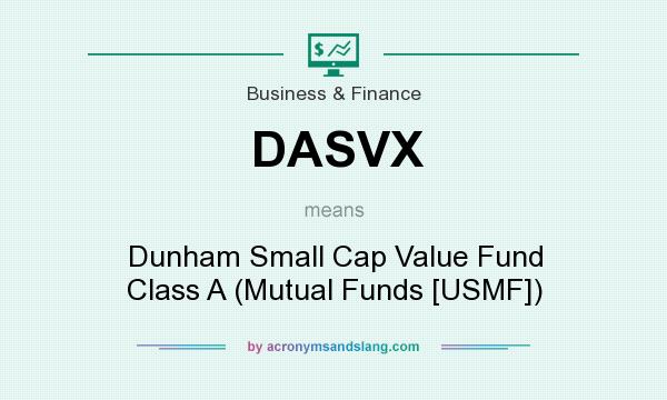 What does DASVX mean? It stands for Dunham Small Cap Value Fund Class A (Mutual Funds [USMF])