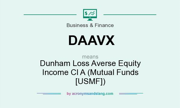 What does DAAVX mean? It stands for Dunham Loss Averse Equity Income Cl A (Mutual Funds [USMF])
