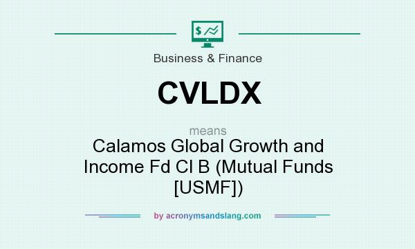 What does CVLDX mean? It stands for Calamos Global Growth and Income Fd Cl B (Mutual Funds [USMF])
