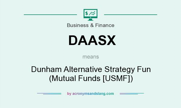 What does DAASX mean? It stands for Dunham Alternative Strategy Fun (Mutual Funds [USMF])