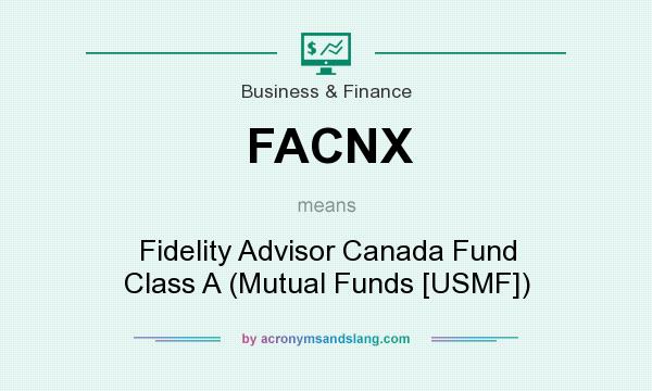 What does FACNX mean? It stands for Fidelity Advisor Canada Fund Class A (Mutual Funds [USMF])