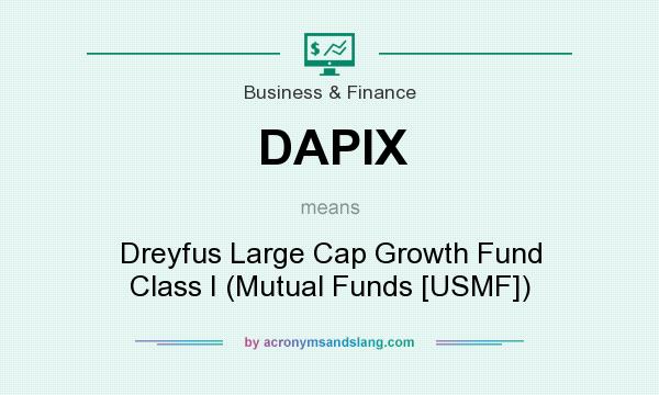 What does DAPIX mean? It stands for Dreyfus Large Cap Growth Fund Class I (Mutual Funds [USMF])