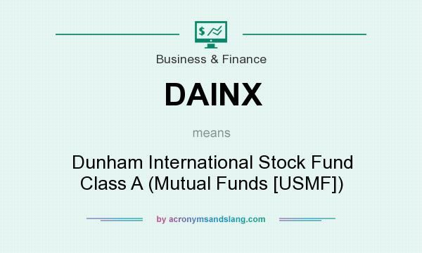 What does DAINX mean? It stands for Dunham International Stock Fund Class A (Mutual Funds [USMF])