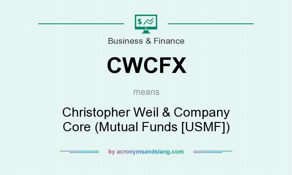 What does CWCFX mean? It stands for Christopher Weil & Company Core (Mutual Funds [USMF])