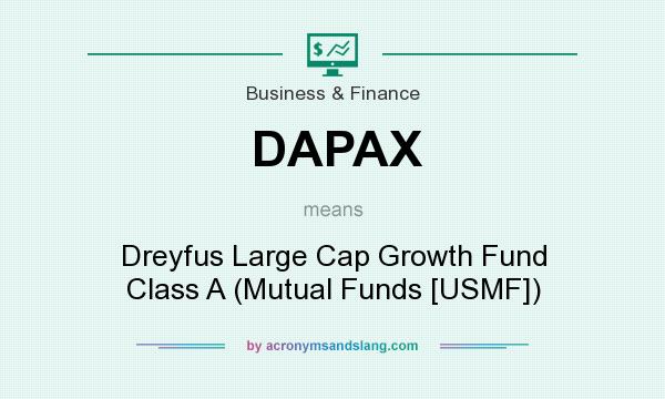 What does DAPAX mean? It stands for Dreyfus Large Cap Growth Fund Class A (Mutual Funds [USMF])
