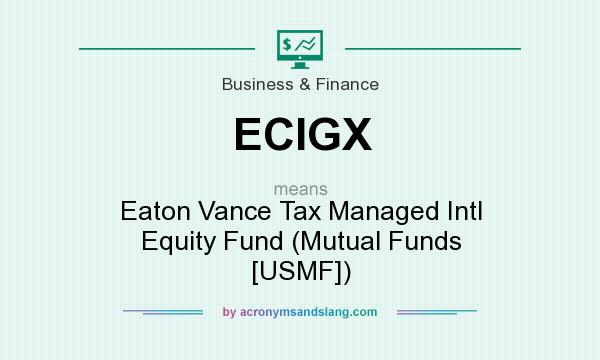 What does ECIGX mean? It stands for Eaton Vance Tax Managed Intl Equity Fund (Mutual Funds [USMF])