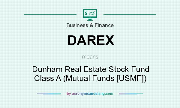 What does DAREX mean? It stands for Dunham Real Estate Stock Fund Class A (Mutual Funds [USMF])