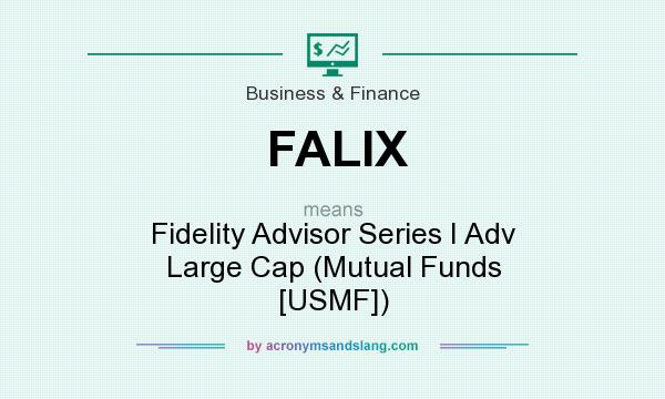 What does FALIX mean? It stands for Fidelity Advisor Series I Adv Large Cap (Mutual Funds [USMF])