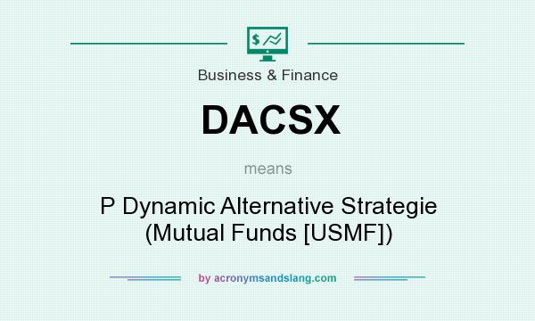 What does DACSX mean? It stands for P Dynamic Alternative Strategie (Mutual Funds [USMF])