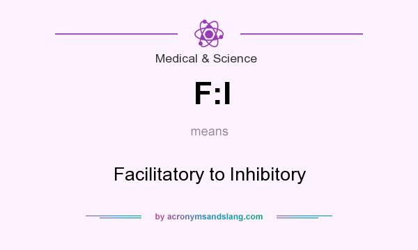 What does F:I mean? It stands for Facilitatory to Inhibitory