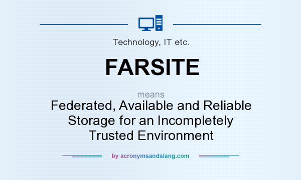 What does FARSITE mean? It stands for Federated, Available and Reliable Storage for an Incompletely Trusted Environment