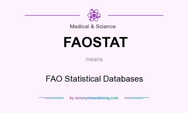 What does FAOSTAT mean? It stands for FAO Statistical Databases