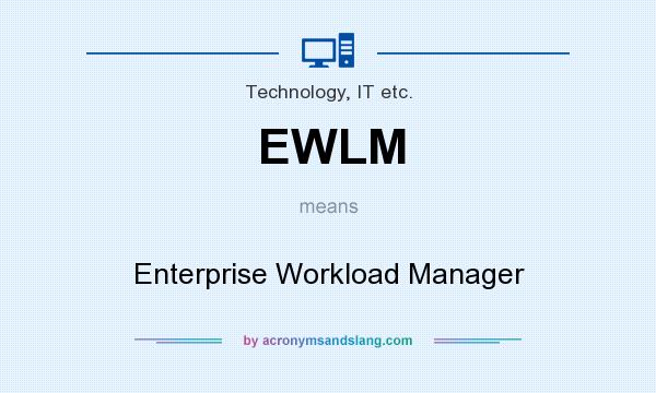 What does EWLM mean? It stands for Enterprise Workload Manager