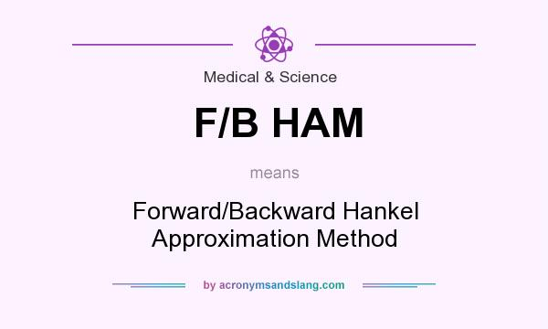What does F/B HAM mean? It stands for Forward/Backward Hankel Approximation Method