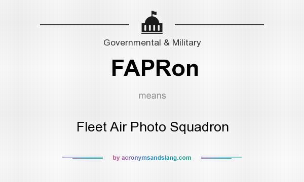 What does FAPRon mean? It stands for Fleet Air Photo Squadron