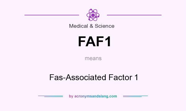 What does FAF1 mean? It stands for Fas-Associated Factor 1