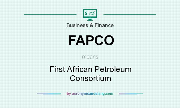 What does FAPCO mean? It stands for First African Petroleum Consortium