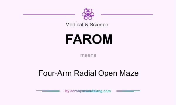 What does FAROM mean? It stands for Four-Arm Radial Open Maze
