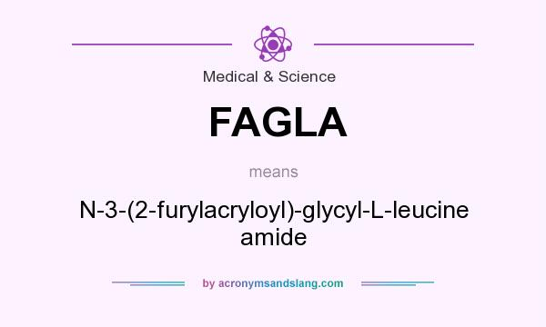 What does FAGLA mean? It stands for N-3-(2-furylacryloyl)-glycyl-L-leucine amide