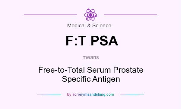 What does F:T PSA mean? It stands for Free-to-Total Serum Prostate Specific Antigen