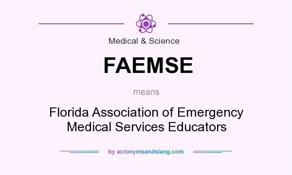 What does FAEMSE mean? It stands for Florida Association of Emergency Medical Services Educators