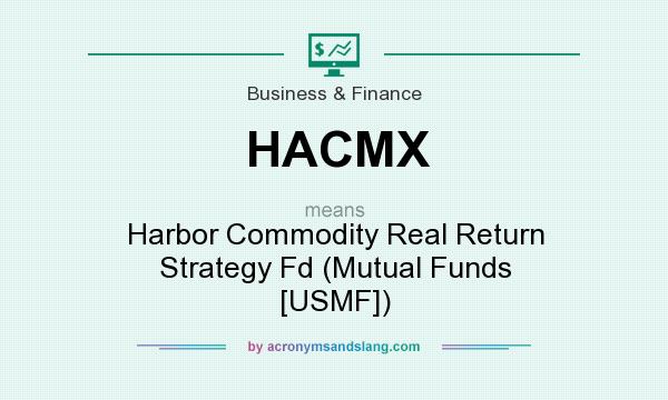 What does HACMX mean? It stands for Harbor Commodity Real Return Strategy Fd (Mutual Funds [USMF])