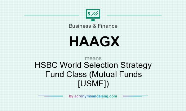 What does HAAGX mean? It stands for HSBC World Selection Strategy Fund Class (Mutual Funds [USMF])