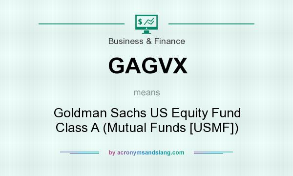 What does GAGVX mean? It stands for Goldman Sachs US Equity Fund Class A (Mutual Funds [USMF])